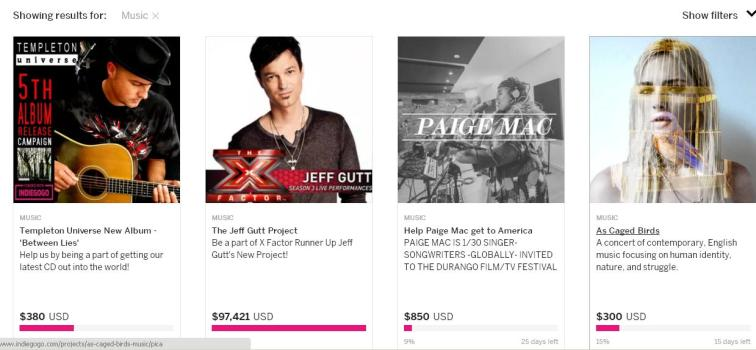 Indiegogo Music Category